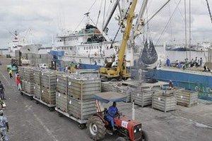 Evolution de la pêche industrielle de 2003 à 2012
